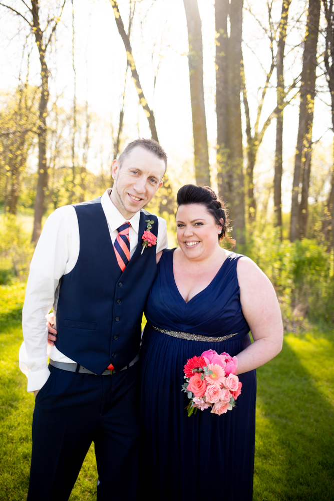 Romantic Spring Wedding at Whispering Springs Golf Course in Fond du Lac Wisconsin - Whit Meza Photography
