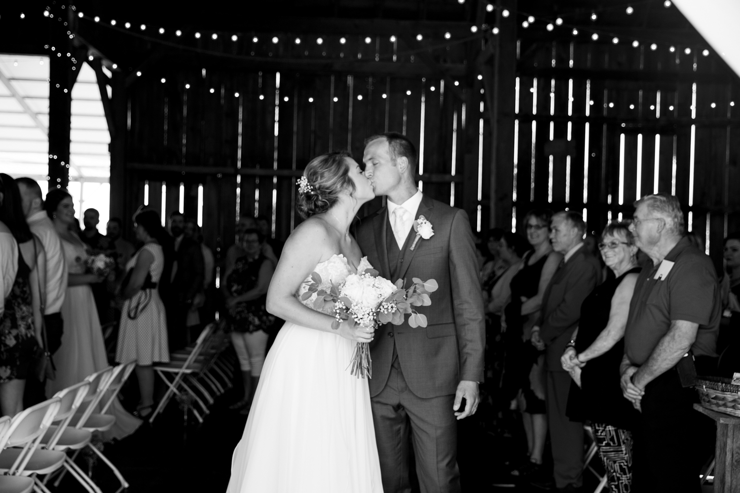 Simple Rustic Barn Wedding at Brighton Acres in Oshkosh, Wisconsin - Whit Meza Photography