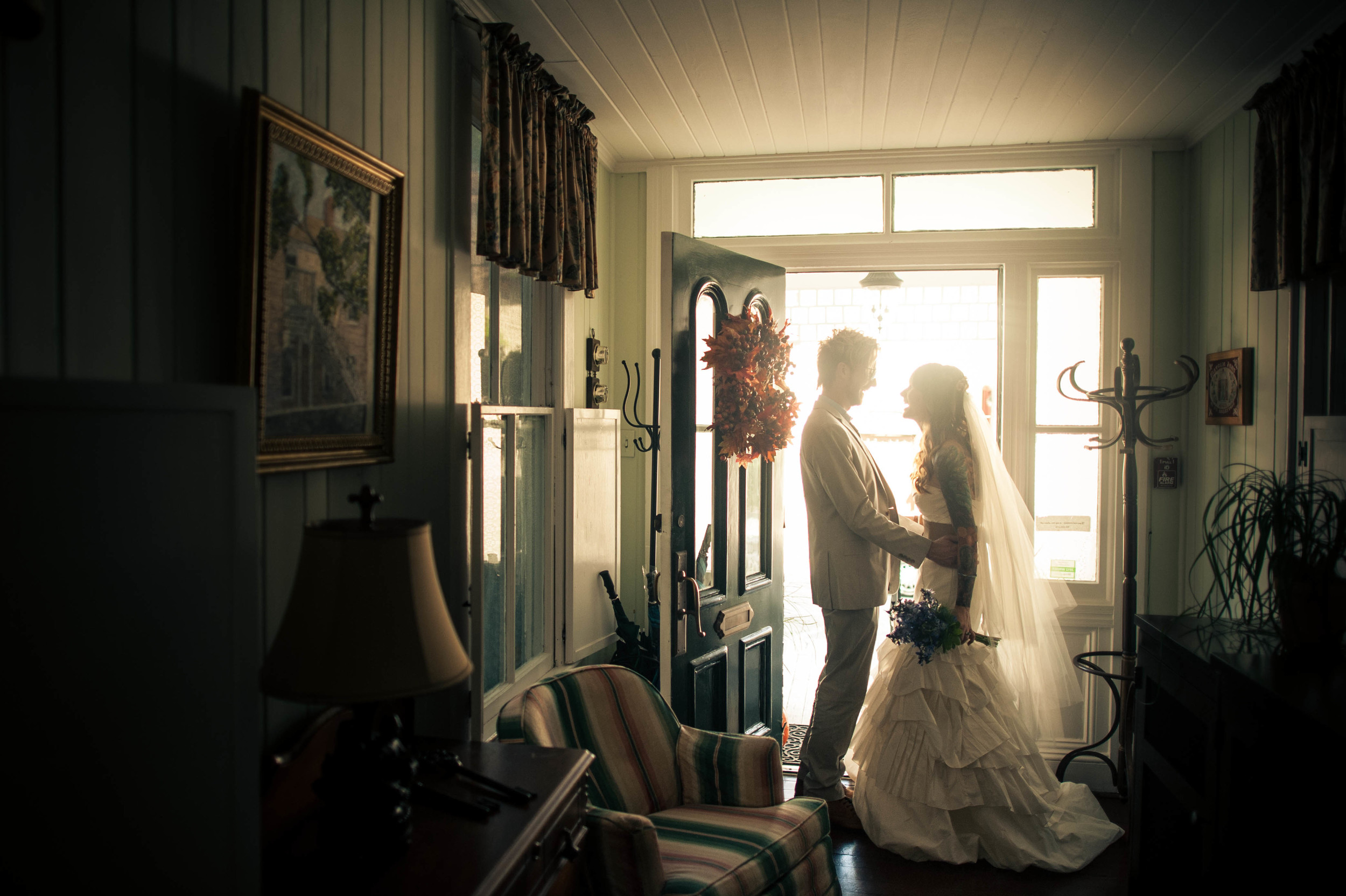 bride and groom share a moment in st. augustine florida.jpg