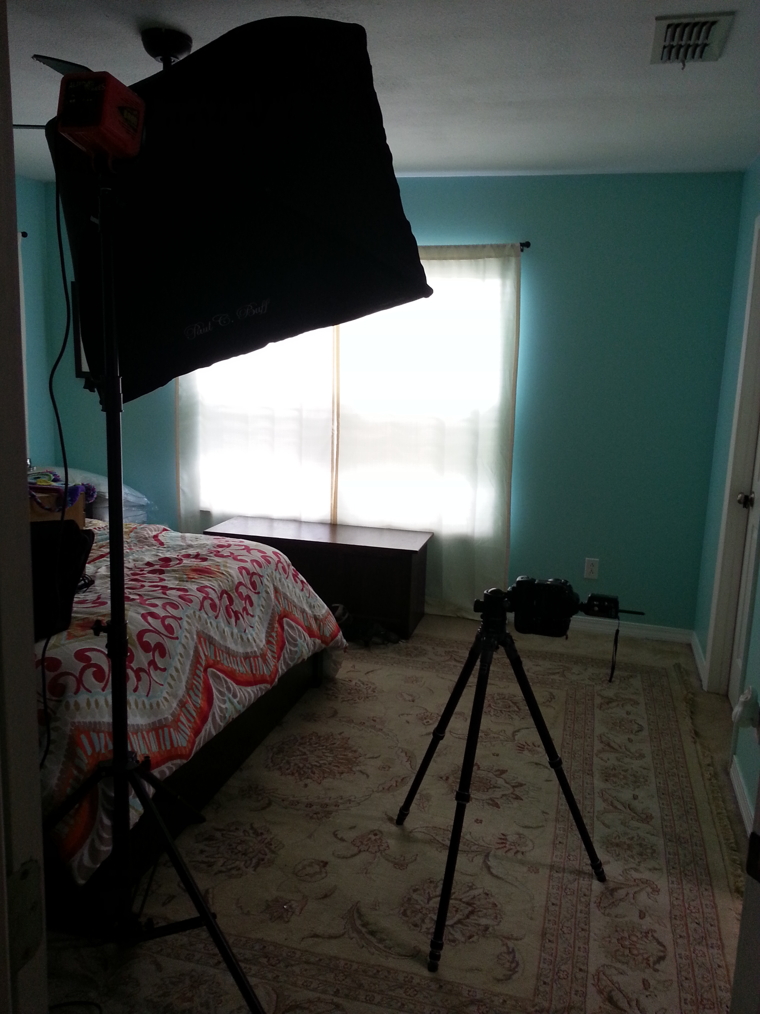 The setup for our photo shoot.