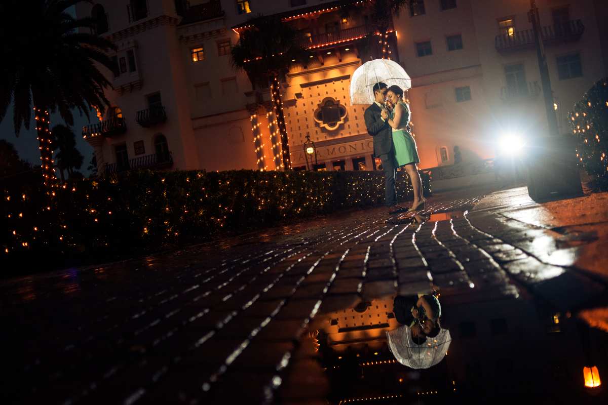 kelly and lorn engagement session casa monica