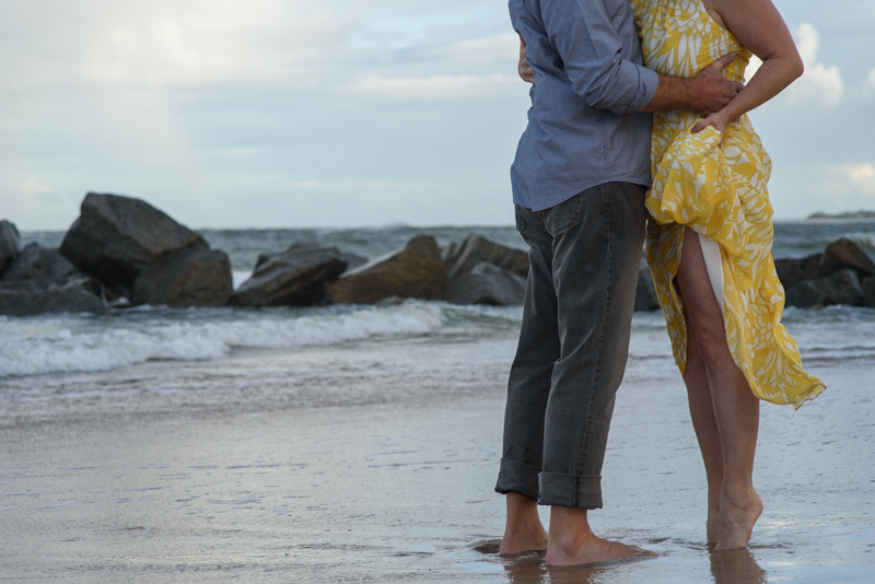Heather and Greg Vilano Beach toes in the sand