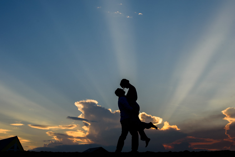 awesome-sunset-engagement-photo-vilano-beach