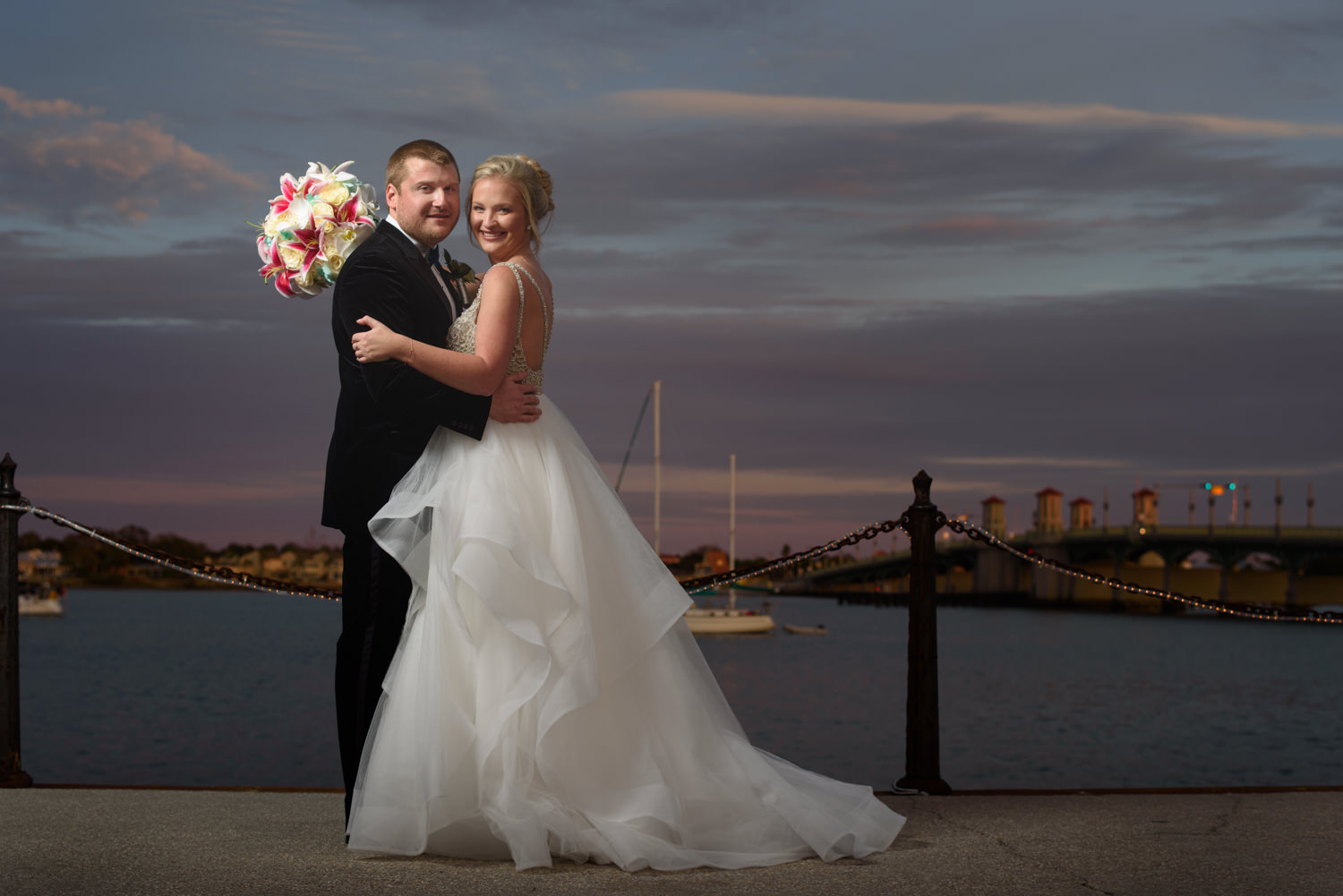 my bride and groom on the bayfront