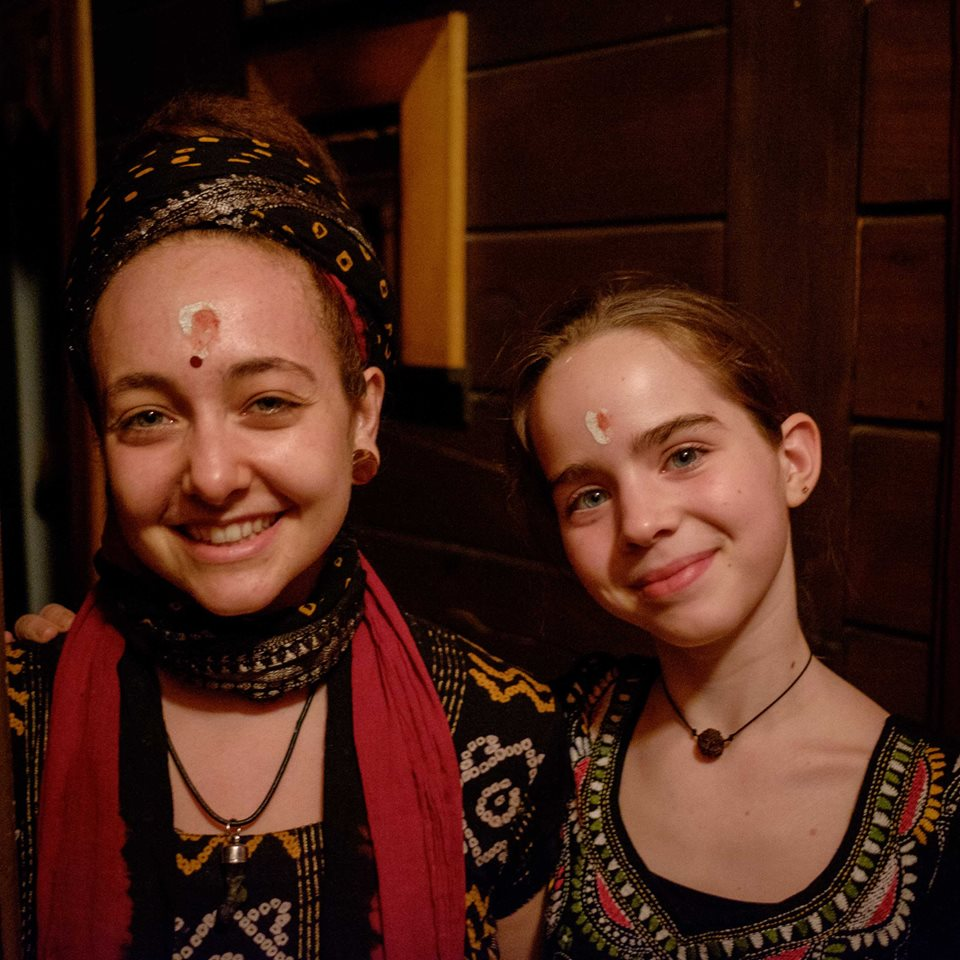 Mani and Kaya, with the blessing of KumKum and Ash on their foreheads.