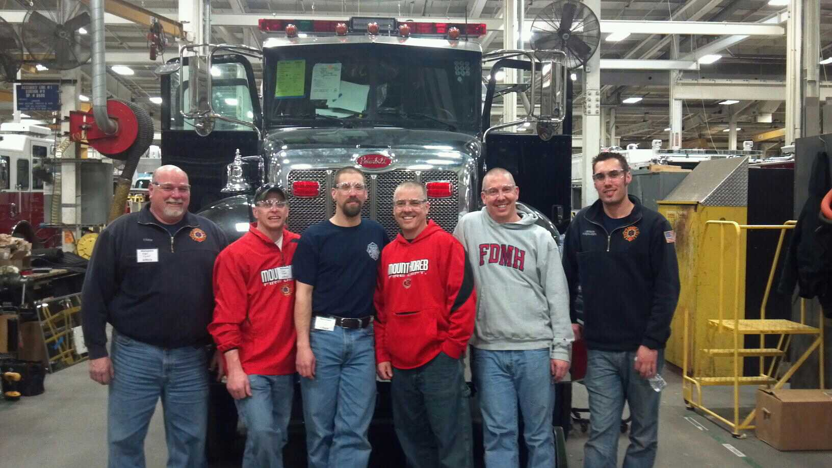Some of the Engine 3 Committee members at Pierce