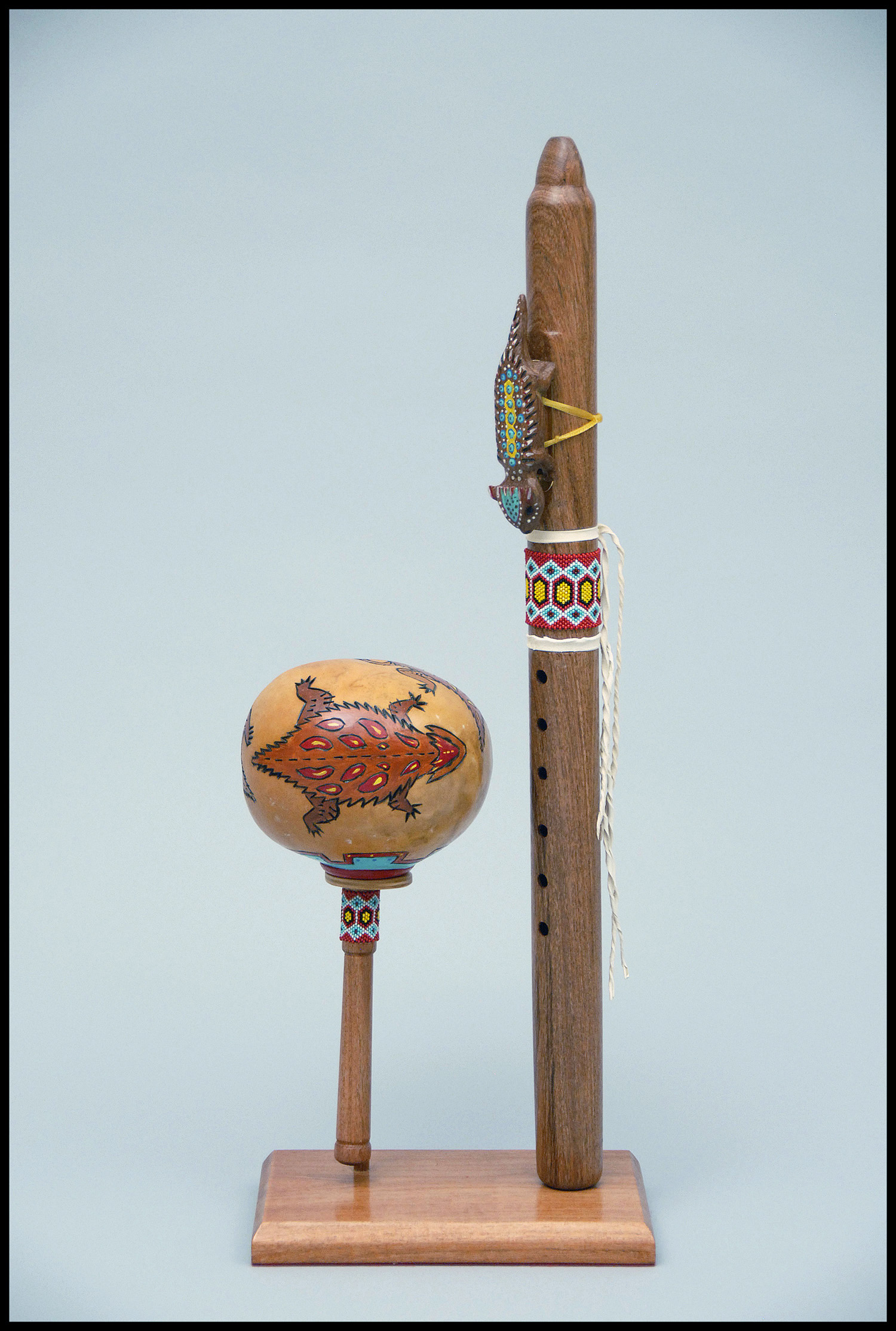 yellow horny toad rattle and flute copy.jpg