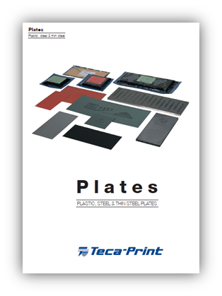 Teca-Print produces a wide array of cliché plates ranging from temporary polymer plate to the highly accurate ceramic. Available today are polymer (sometimes known as plastic), thin steel, thick steel and ceramic