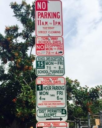 Figure 1 - Bad Street Parking Sign