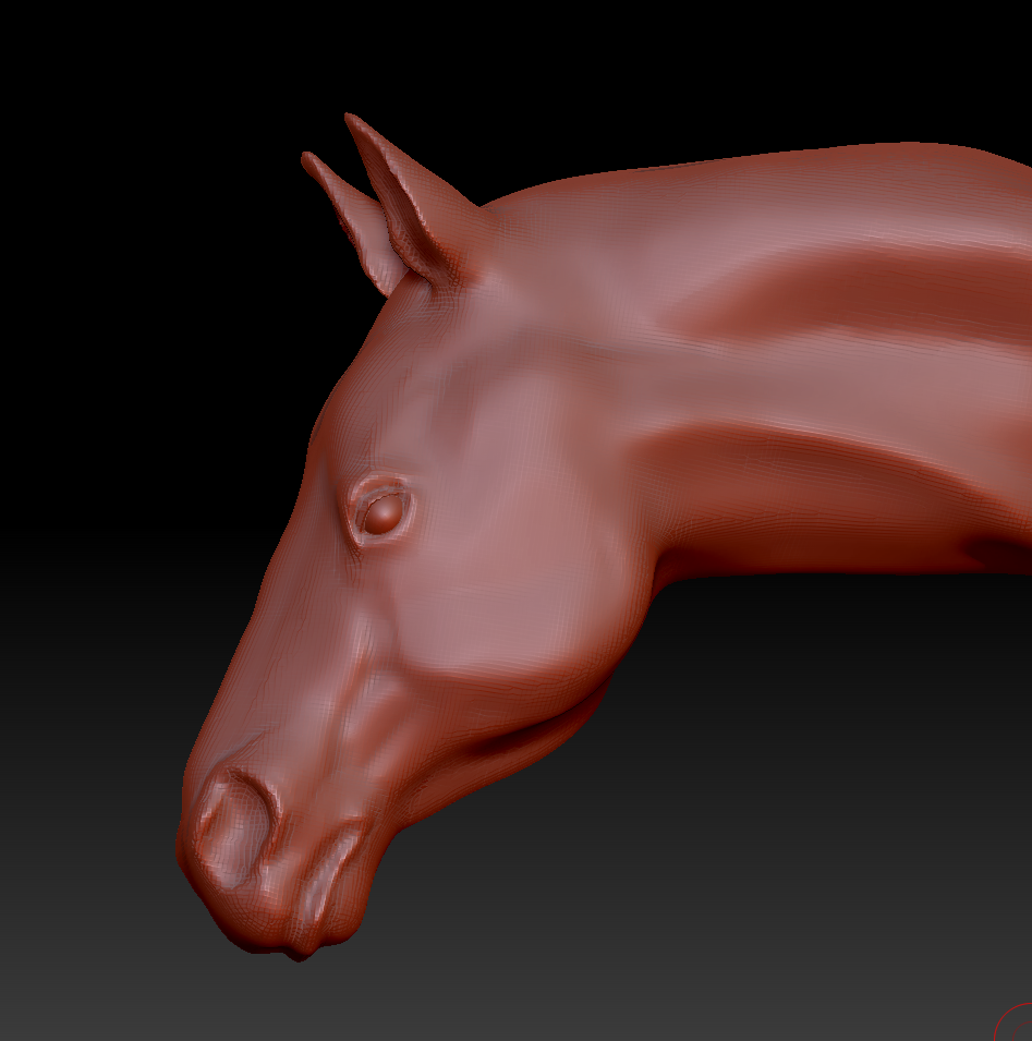 This is a screenshot of the model in Z-brush
