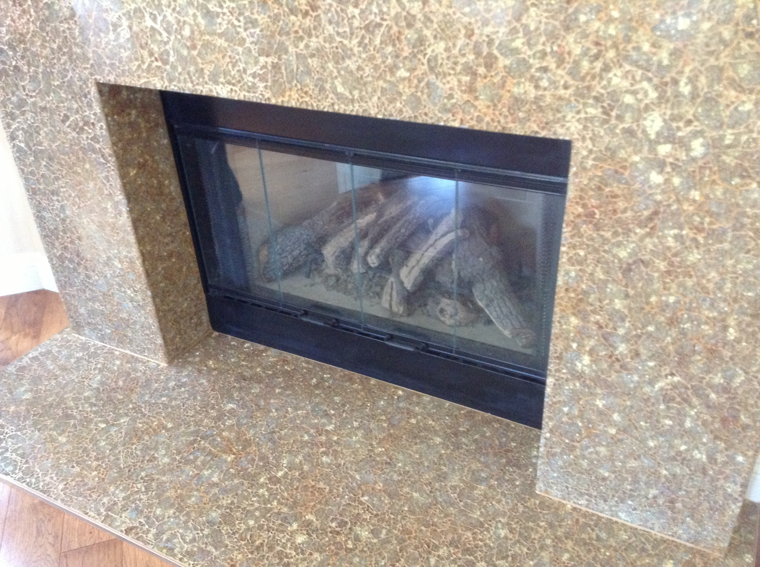 """Mixed Metals"" Fireplace"