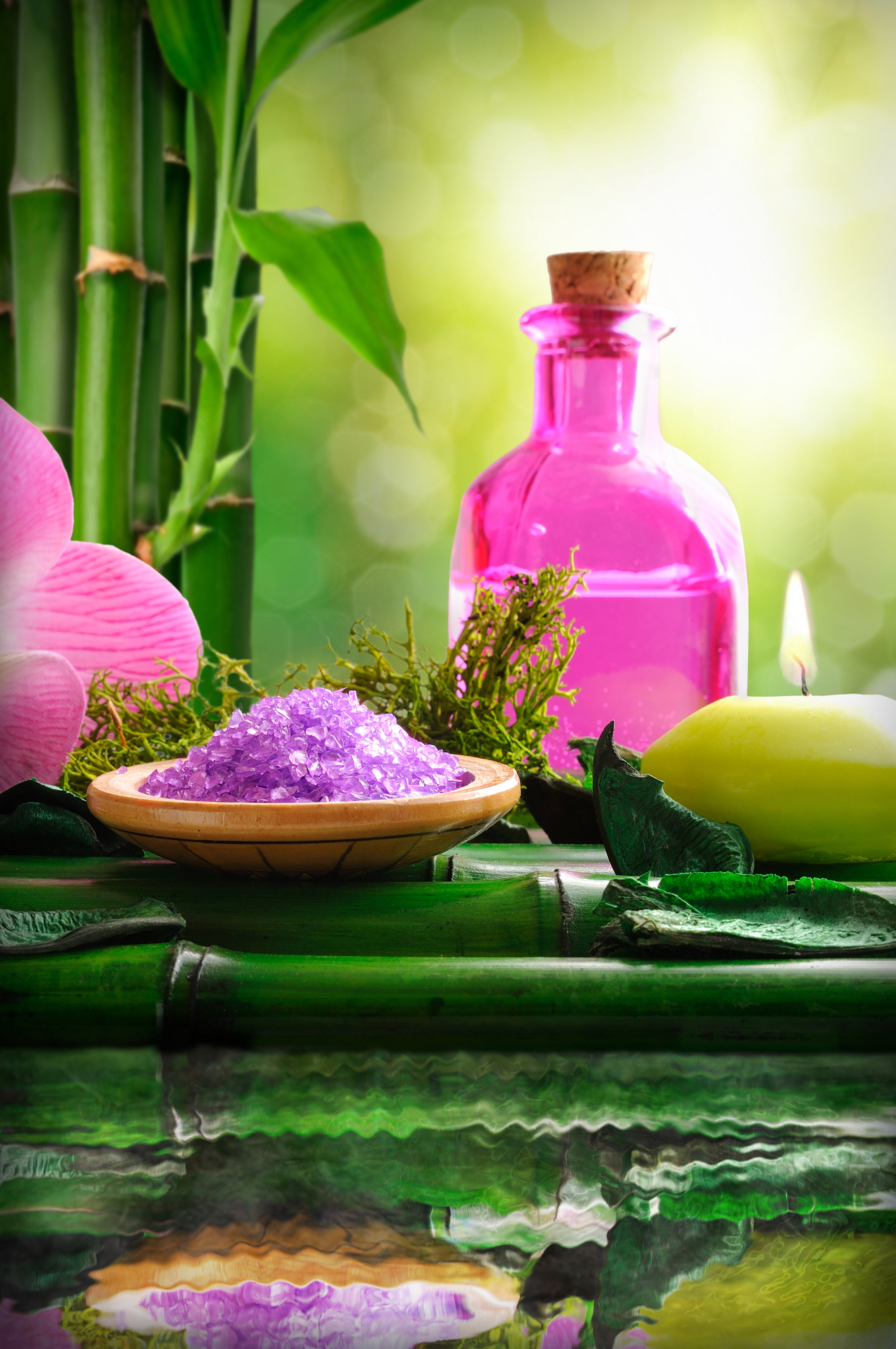 Alternative treatments of natural essences for body care vertica
