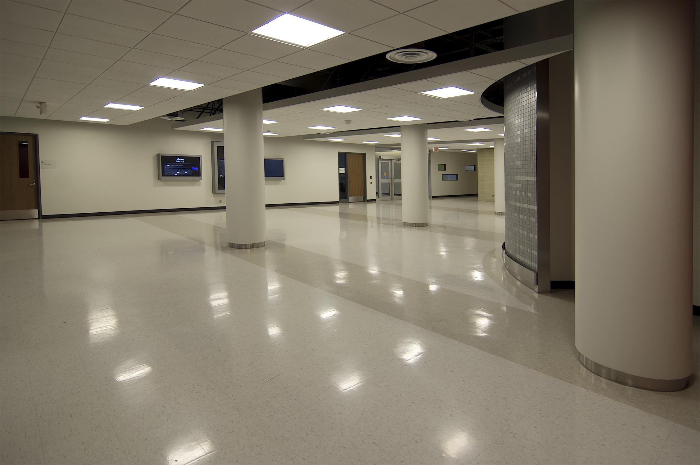 Science A - main floor circulation space