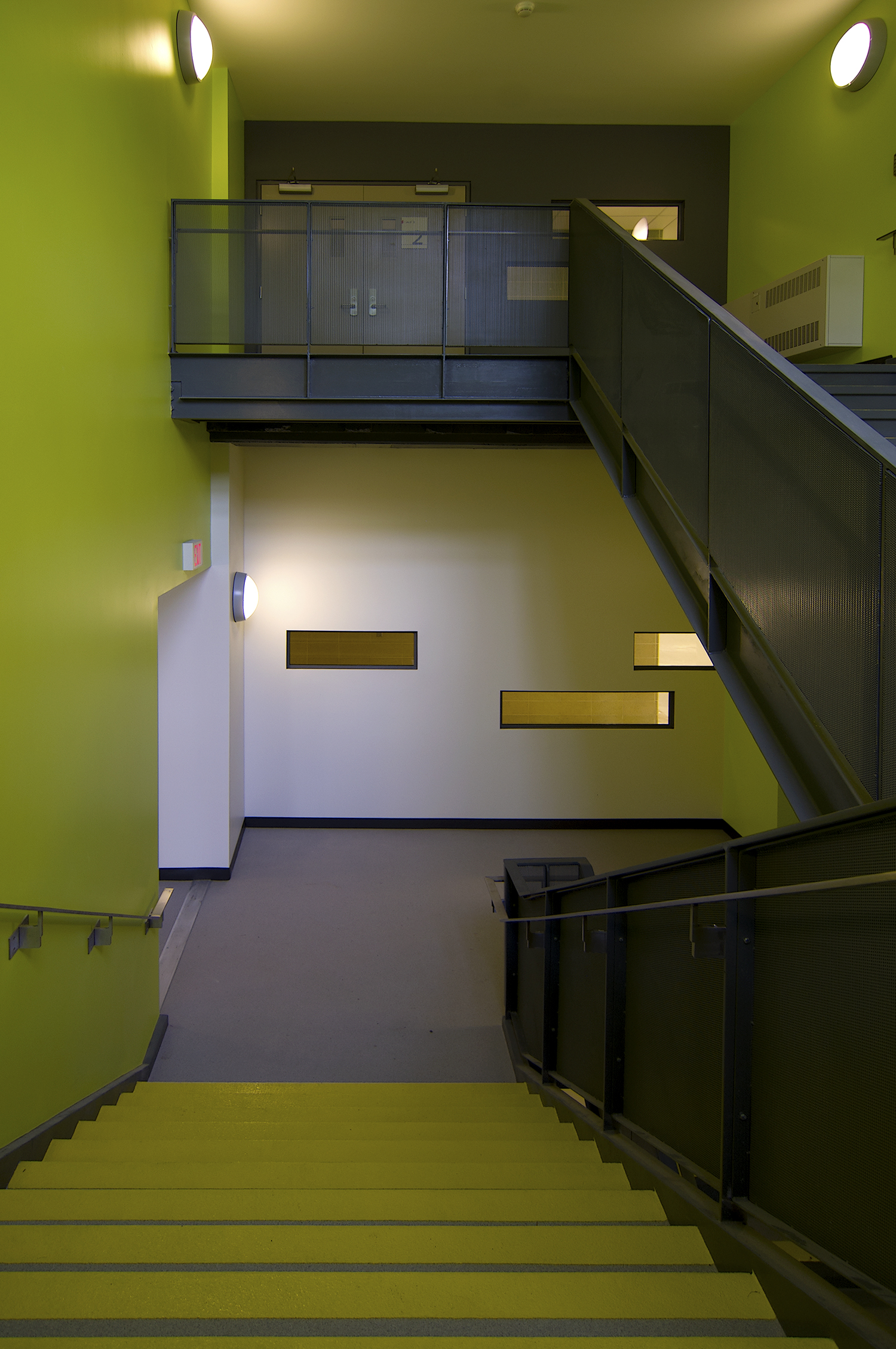 Science A - new exit stair