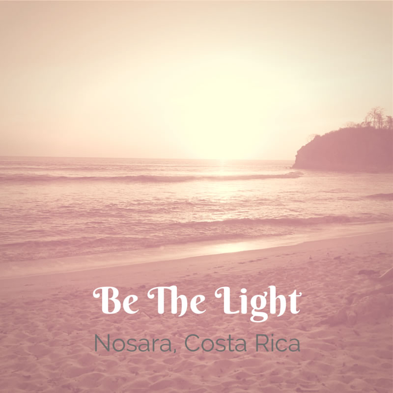 Morning Meditation on Nostara Playa, Costa Rica March 2014 with Rishi Retreats