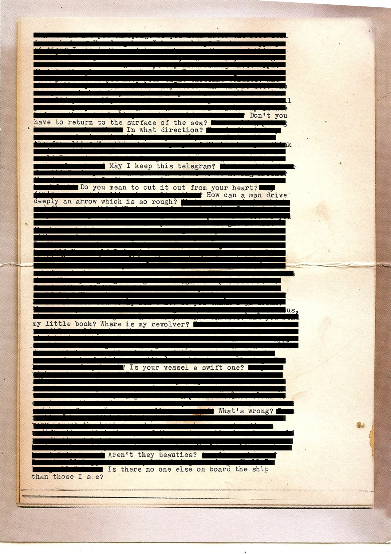 Redaction studies can be very powerful, and I chose to go into the redaction art in 2012 as part of the Occupy Movement.