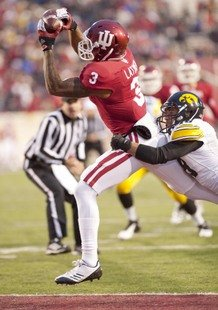 Cody Latimer grabs a touchdown for the Hoosiers in a win against Iowa