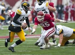 Junior Defensive End Ryan Phillis must be a presence on the defensive line for the Hoosier defense to show improvement.