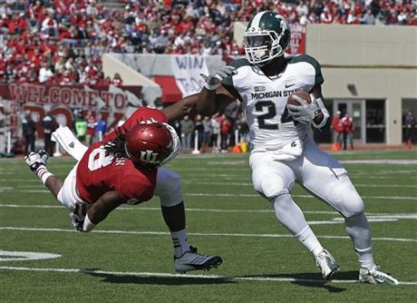 Big Ten rushing leader Le'Veon Bell will not be around in 2013 to carry the Spartan offense.