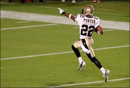 Super Bowl hero Tracy Porter is among the Hoosiers playing in the NFL.