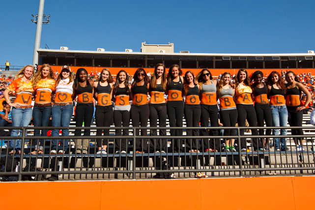 We figured that we would give you a picture of the BGSU student body that you might actually want to look at.