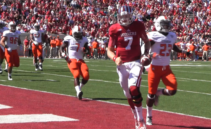 Nate Sudfeld has taken control of the quarterback position for the Hoosiers.