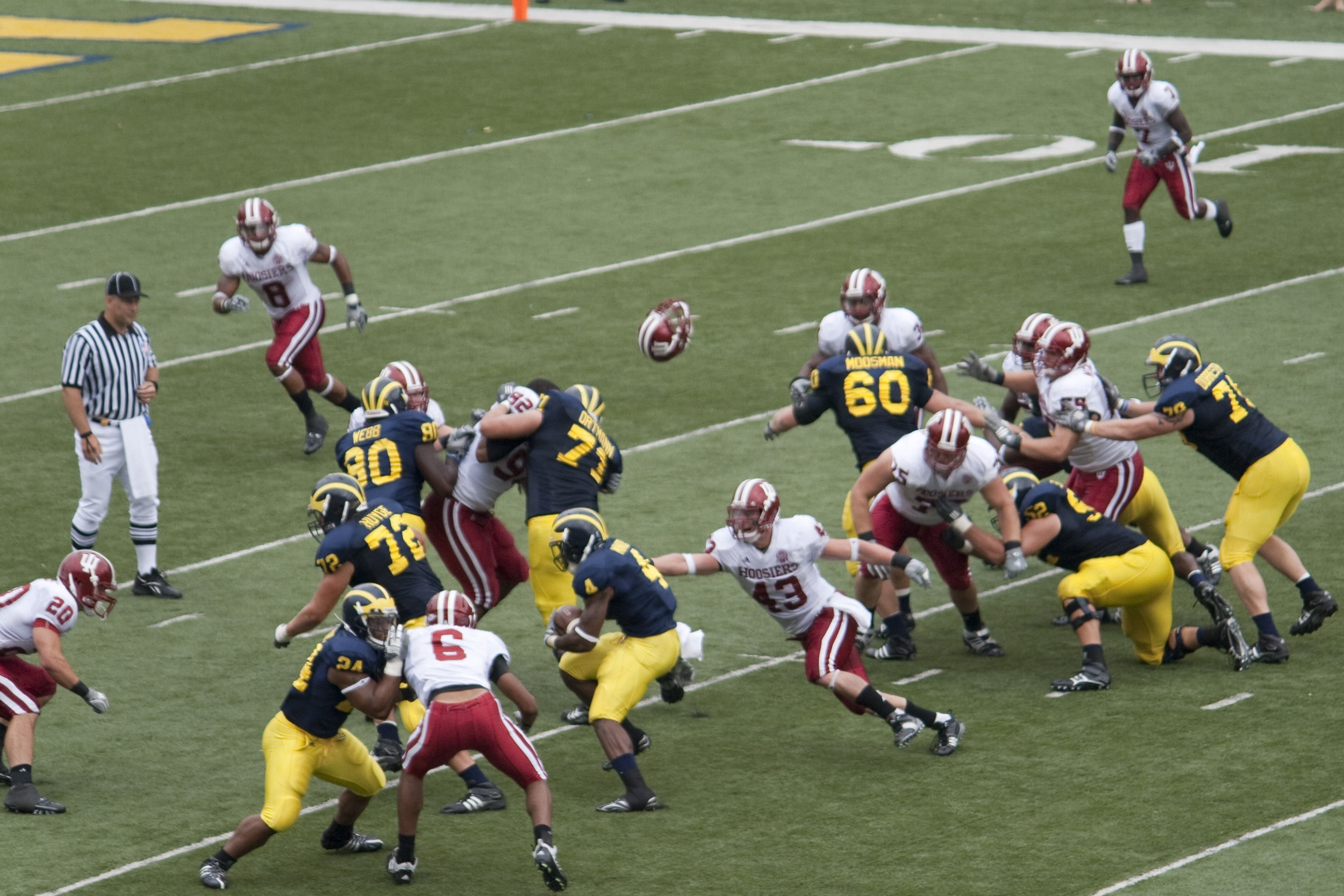 The pads will being popping up in Ann Arbor today as the Indiana defense looks to rebound after a loss last week