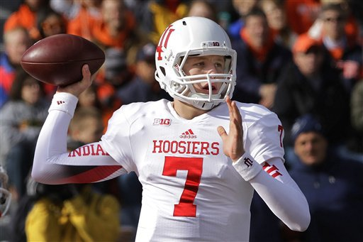 Can Nate Sudfeld and the Hoosier offense put up enough points to pull off the upset at Wisconsin?