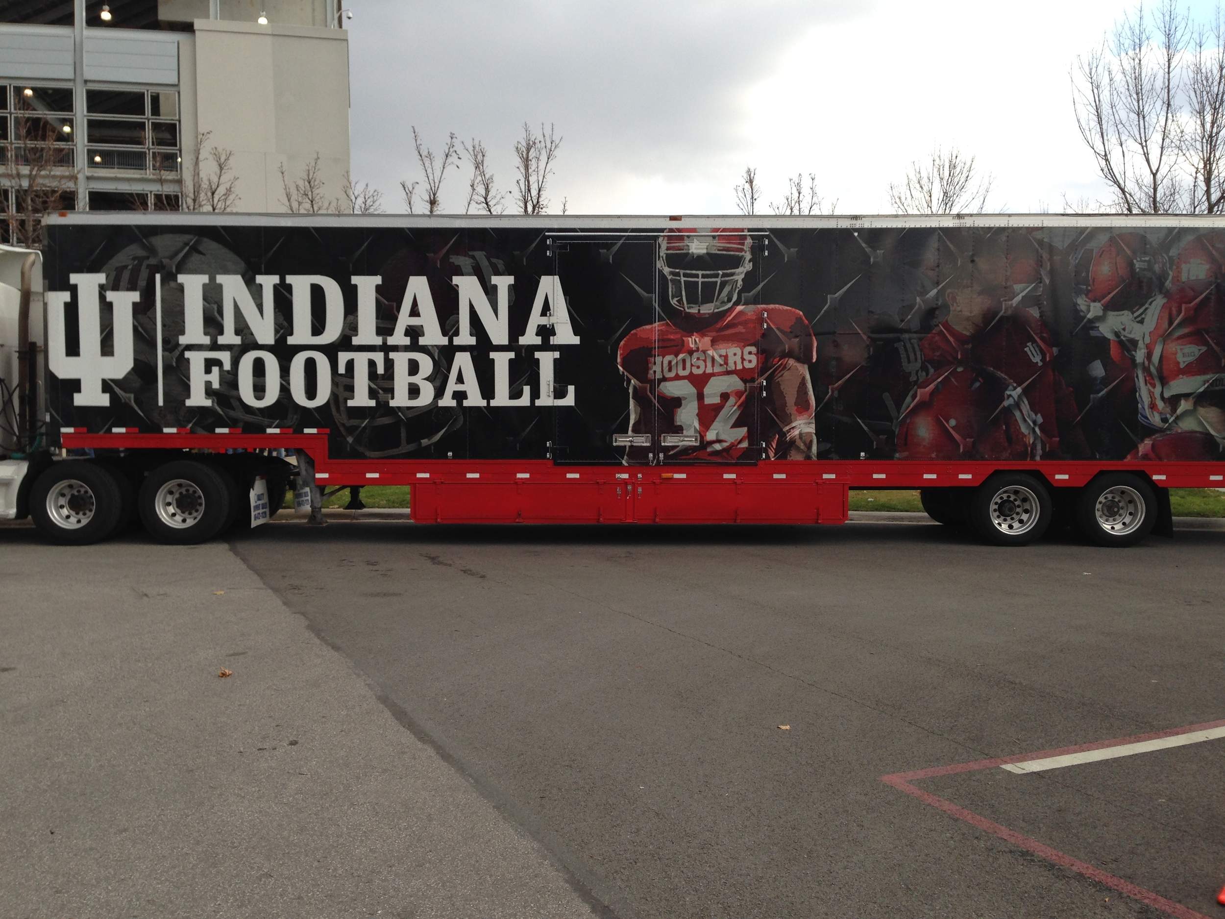 The Indiana Football Equipment truck
