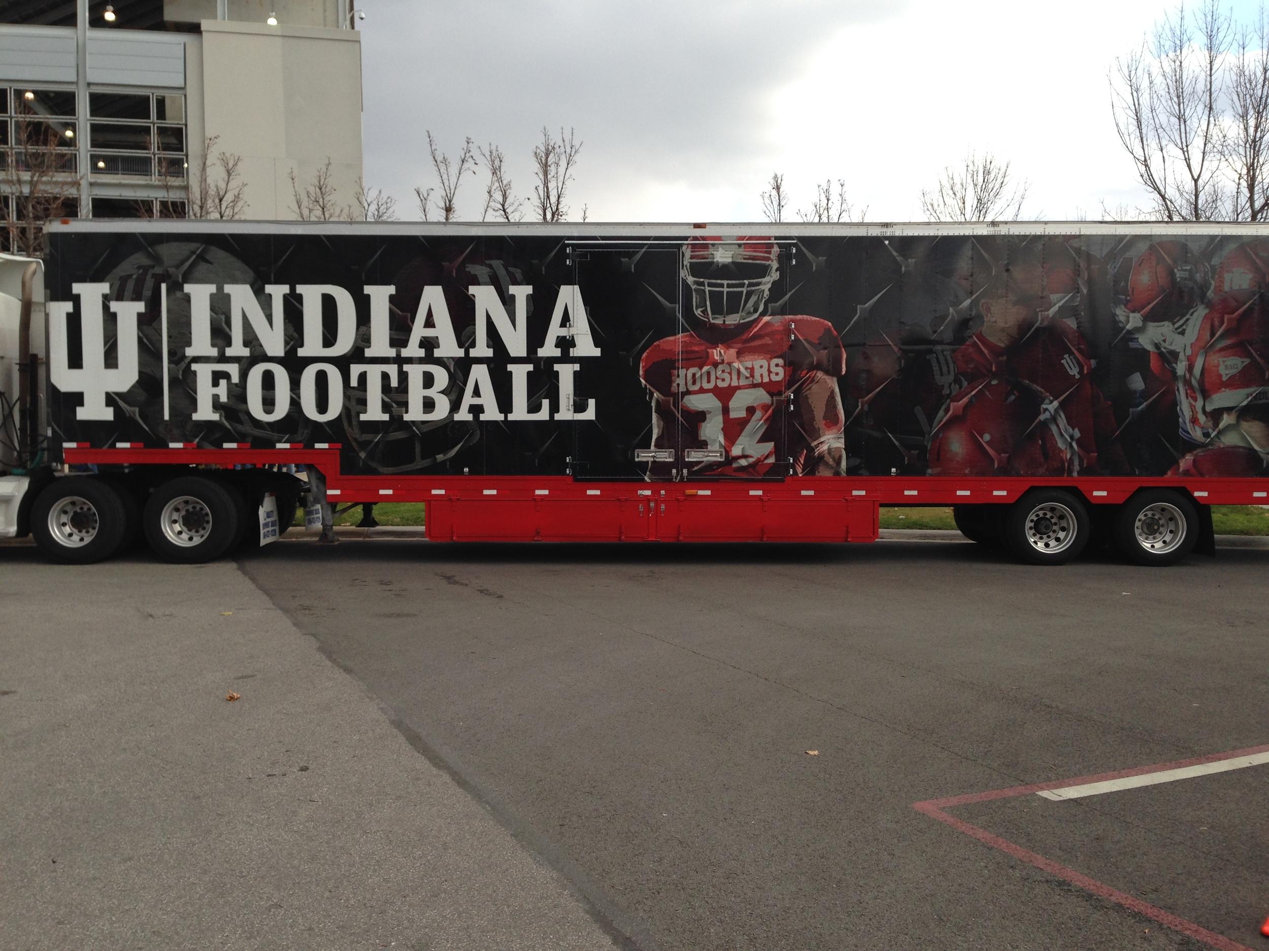 The Indiana Football Equipment truck