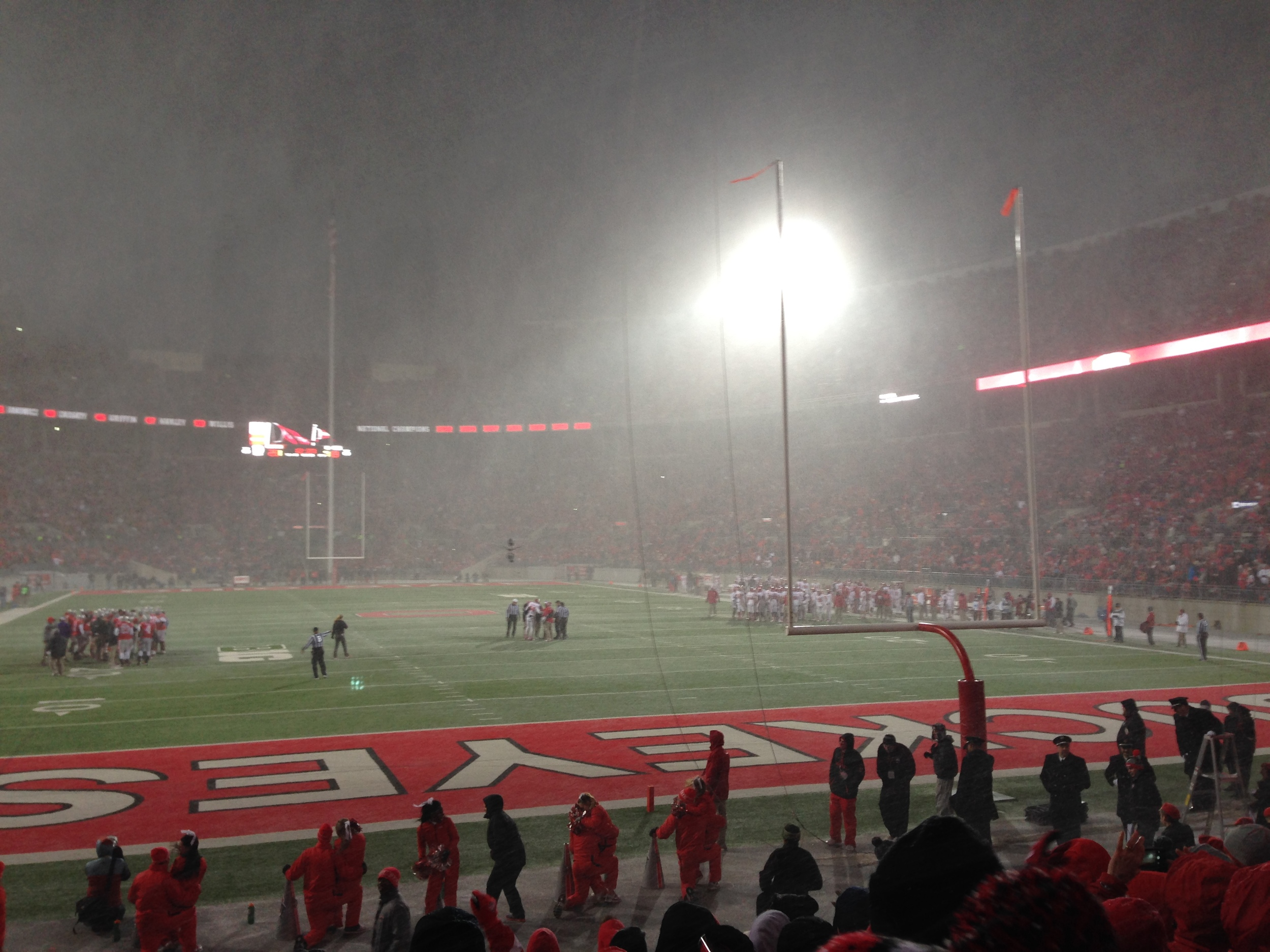 It was a little chilly, but the snow created a great atmosphere