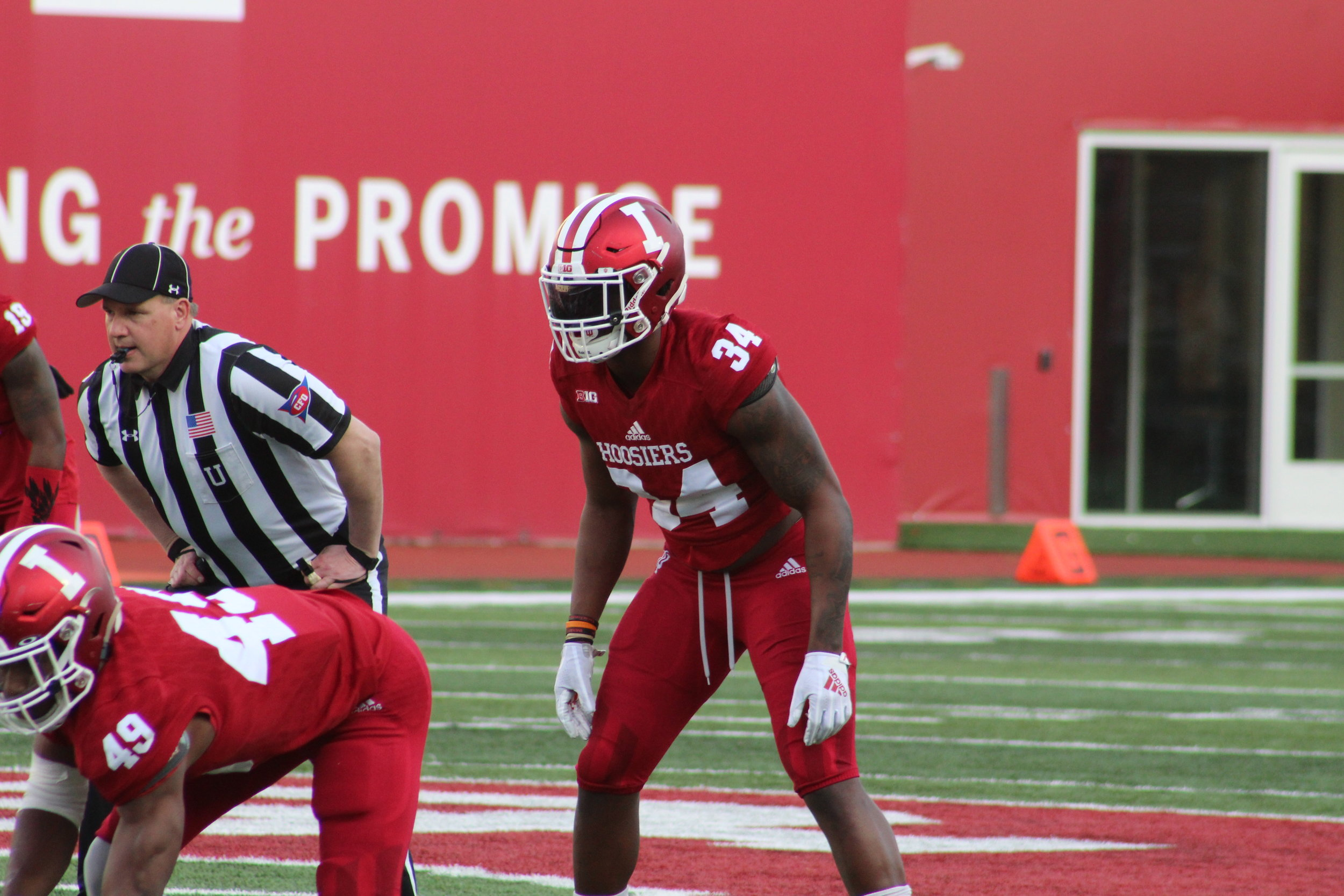 Cam Jones (34) and Madison Norris (49) during IU's spring game  Image: Sammy Jacobs Hoosier Huddle