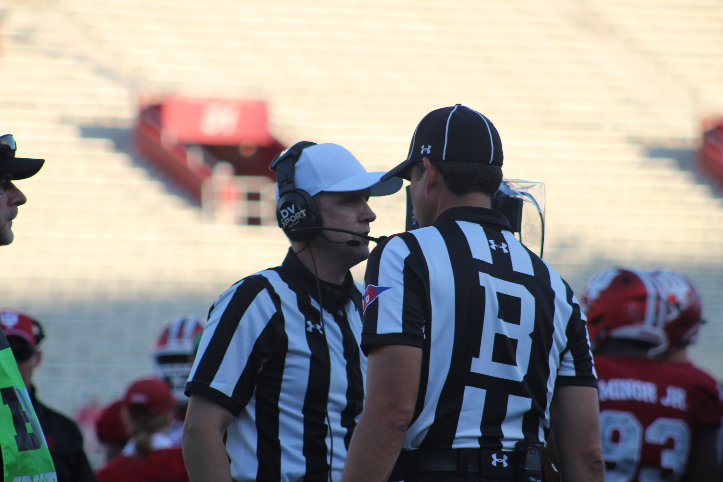 Officials have been under fire for their enforcement of the targeting penalty  Image: Sammy Jacobs Hoosier Huddle