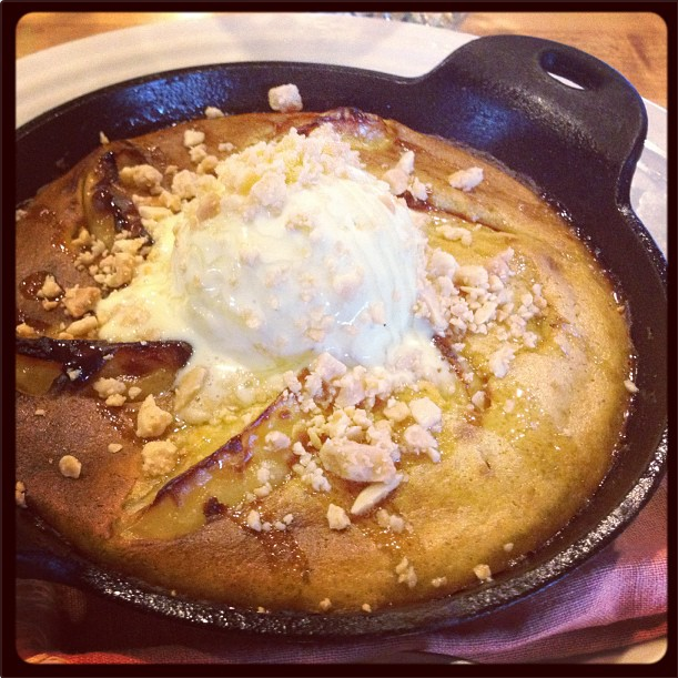 Apple Clafoutis with Blue Cheese Ice Cream, from The Cheese Shop of Des Moines – This is my own entry! ( @paloma_vel )