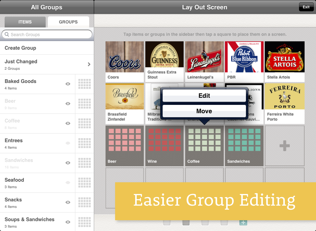 Change Easier Group Editing