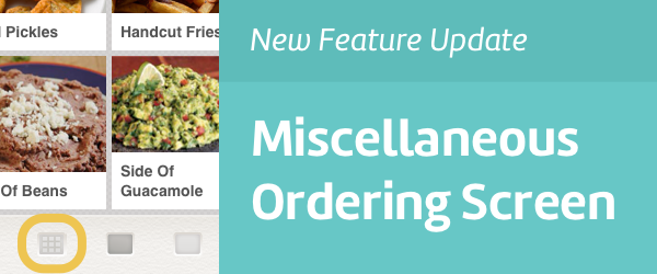 Change app adds Miscellaneous Screen for flexible and speedy checkout.