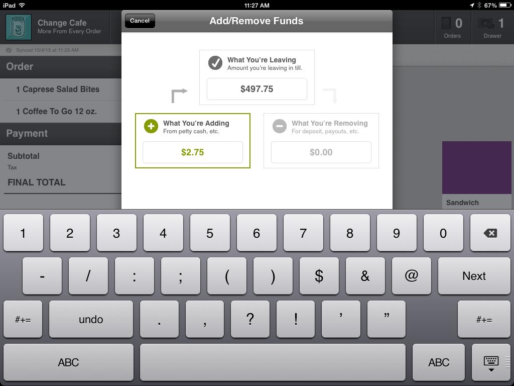 Change iPad register app