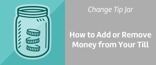 Change iPad cash register