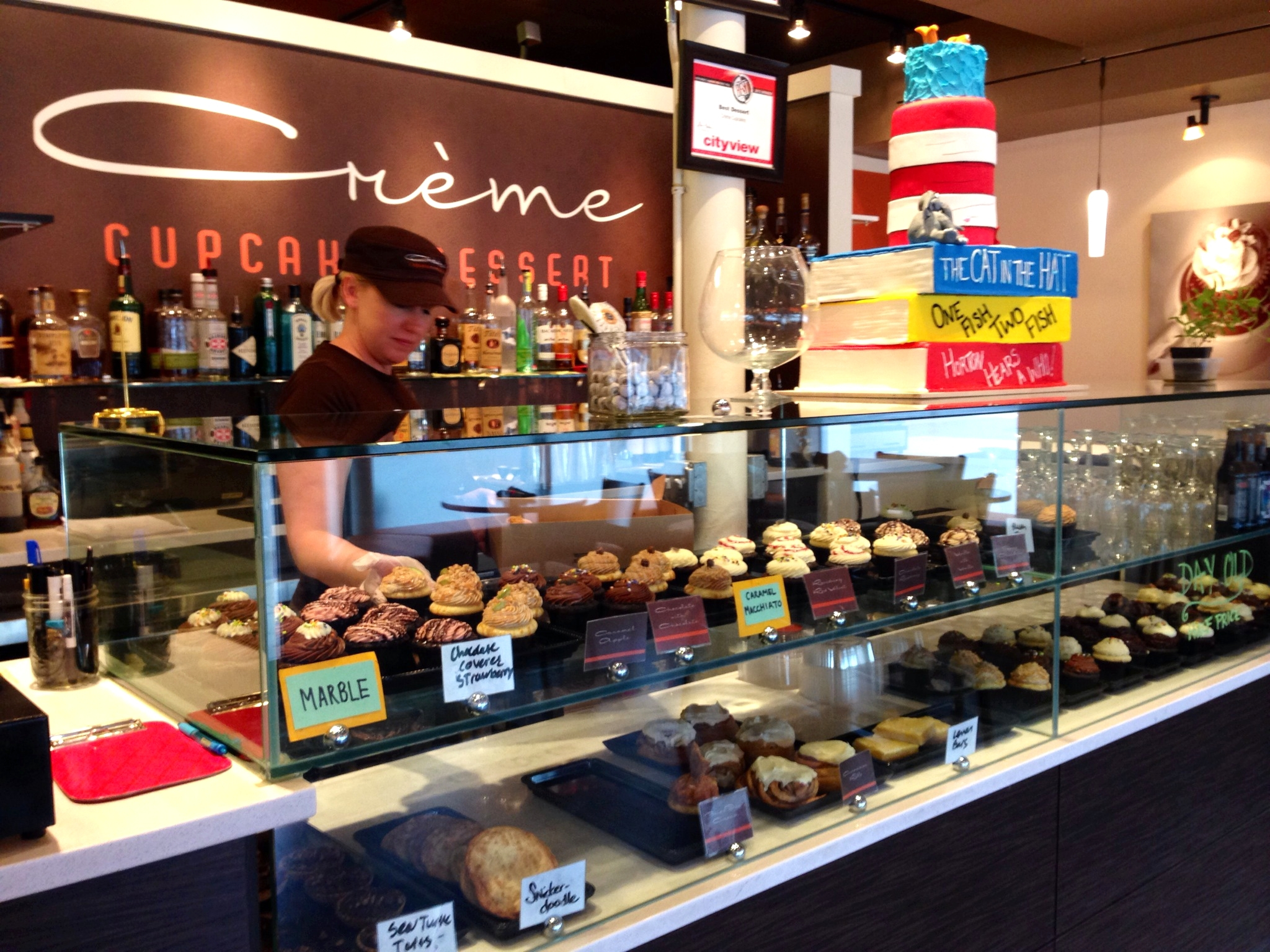Christina Moffatt, owner of Crème Cupcake + Dessert in Des Moines, Iowa.