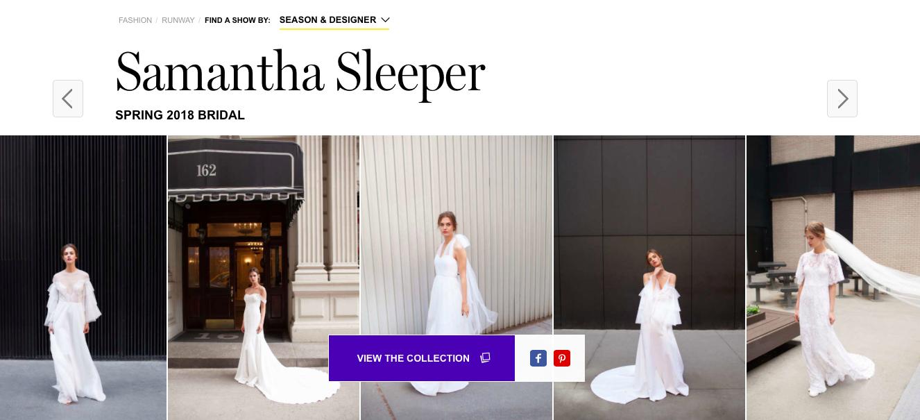 Samantha Sleeper bridal Gown