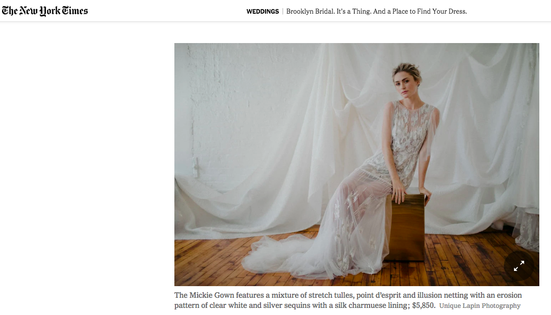 samantha sleeper bridal new york times