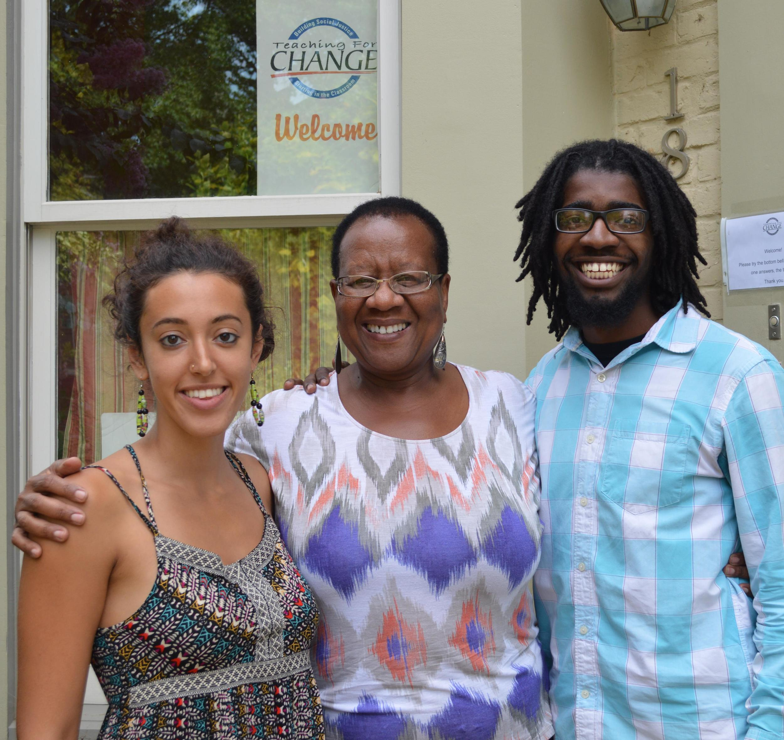 While in D.C., Enid Lee was interviewed by education students Qiddist Hammerly and Mansur buffins.