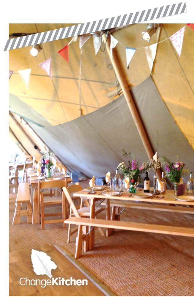 ChangeKitchen : Fully Catered Pop-Up Restaurant Marquee Wedding 2013