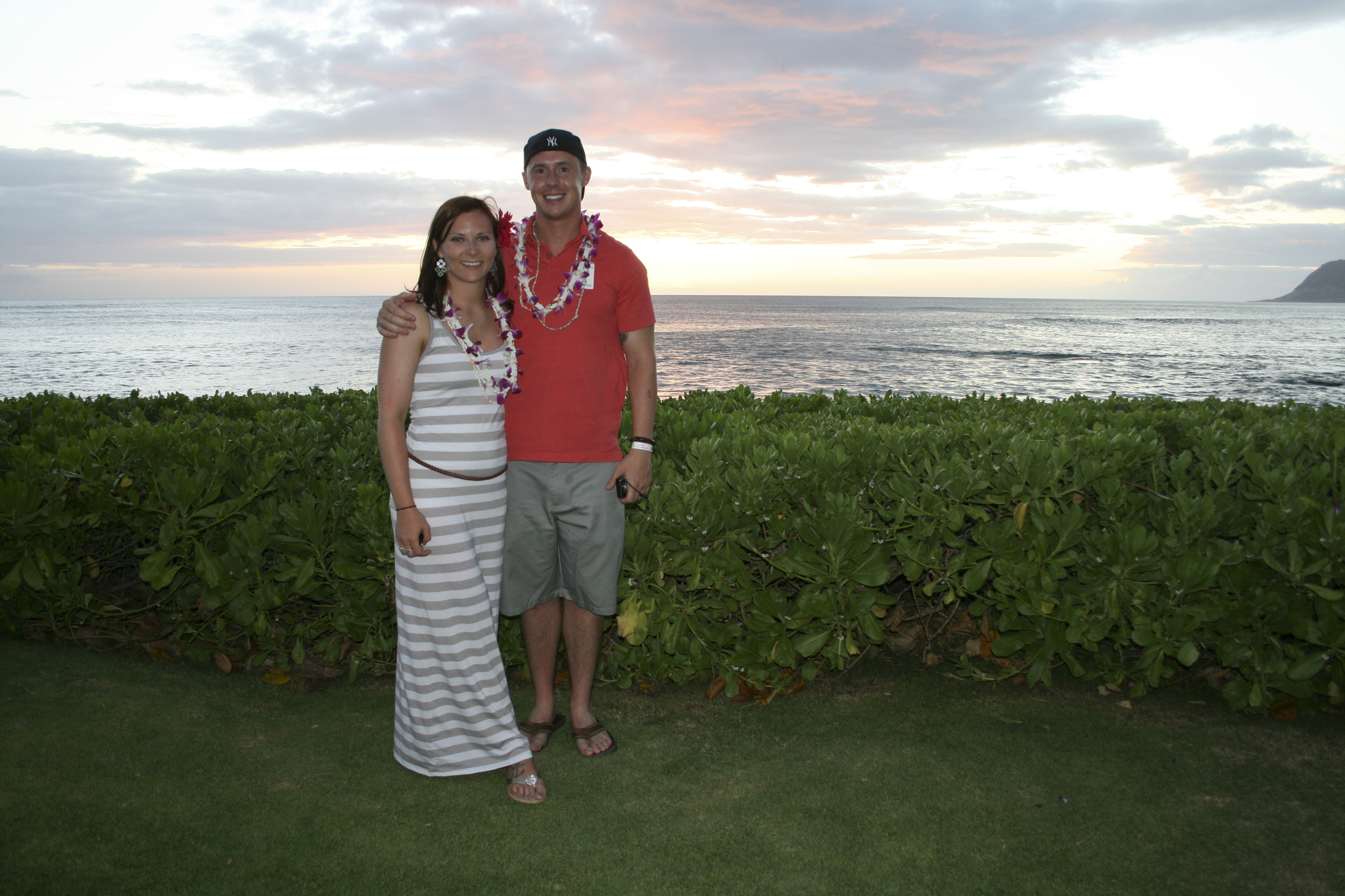 Me and the hubby at sunset.