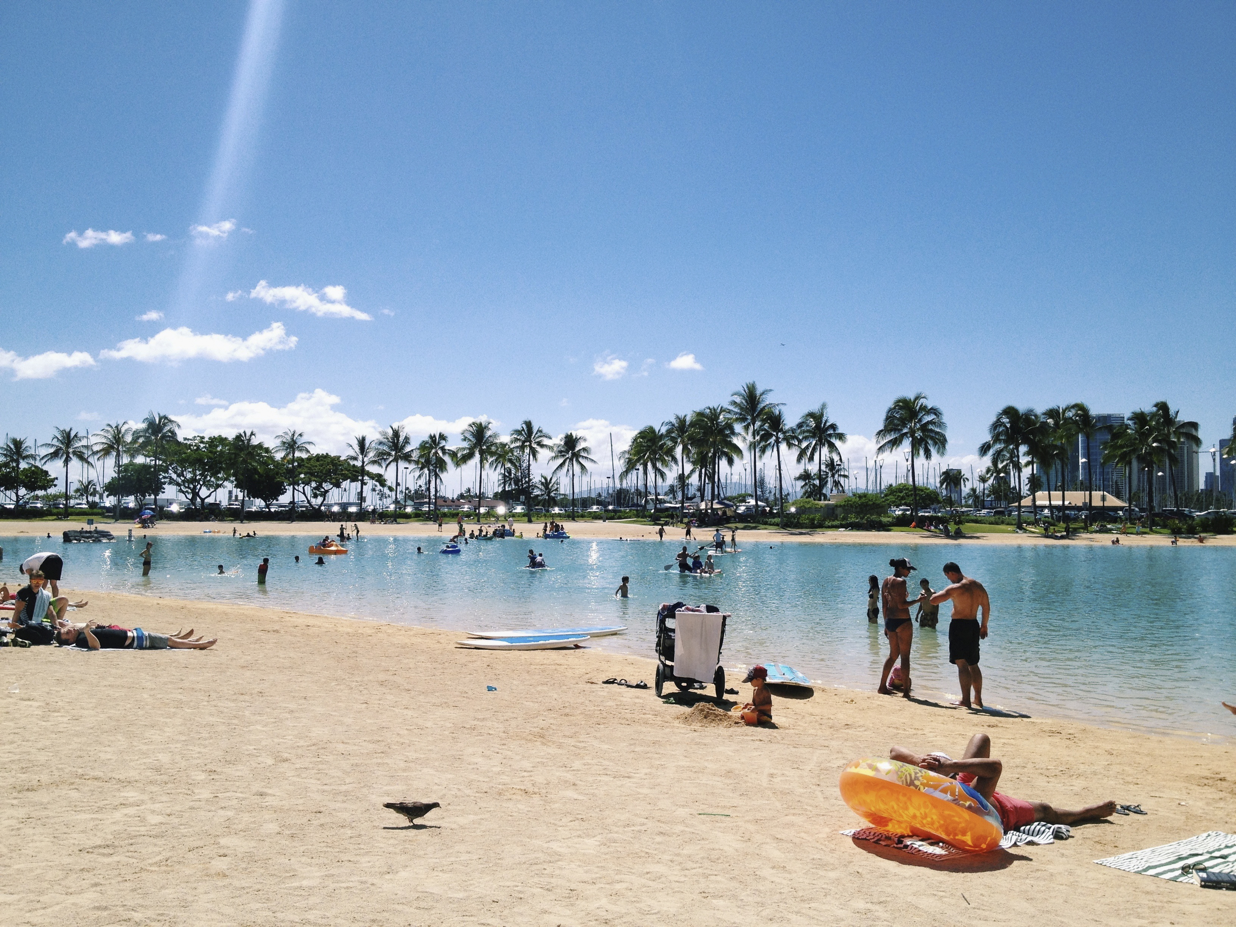 Lagoon Swimming