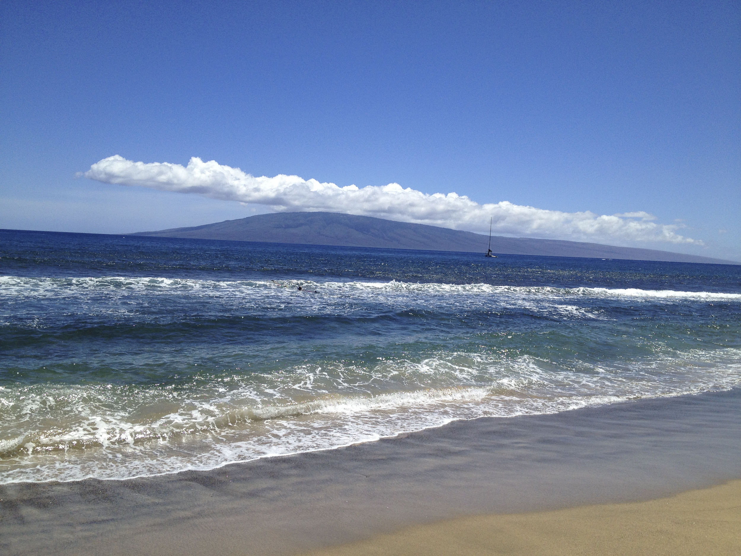 The view from the beach at the Hyatt Regency Maui