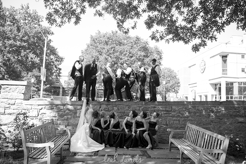 What's a bridal party photo without some half-mooning ?