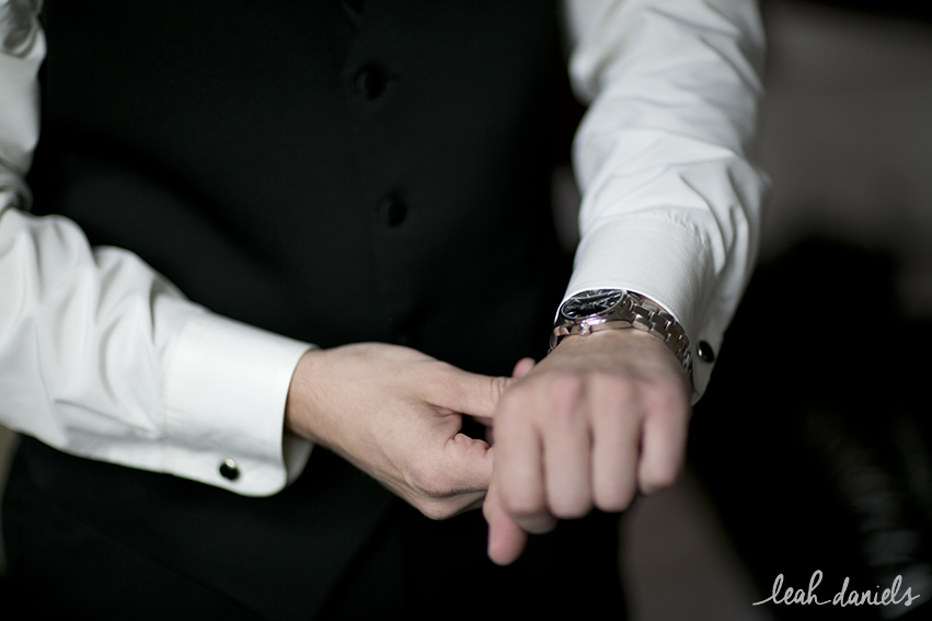 Maura bought Rob a gorgeous watch as a wedding day gift!