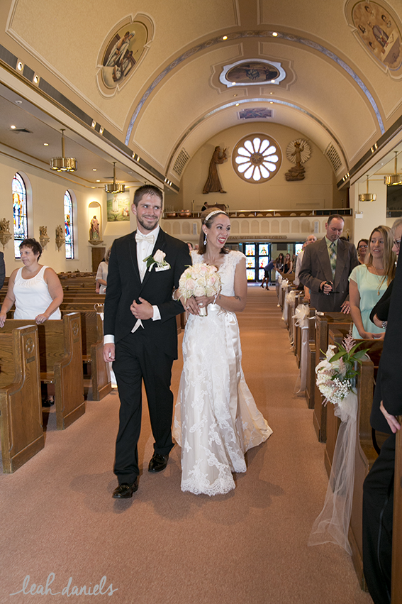 Leah and David walked down the aisle together!