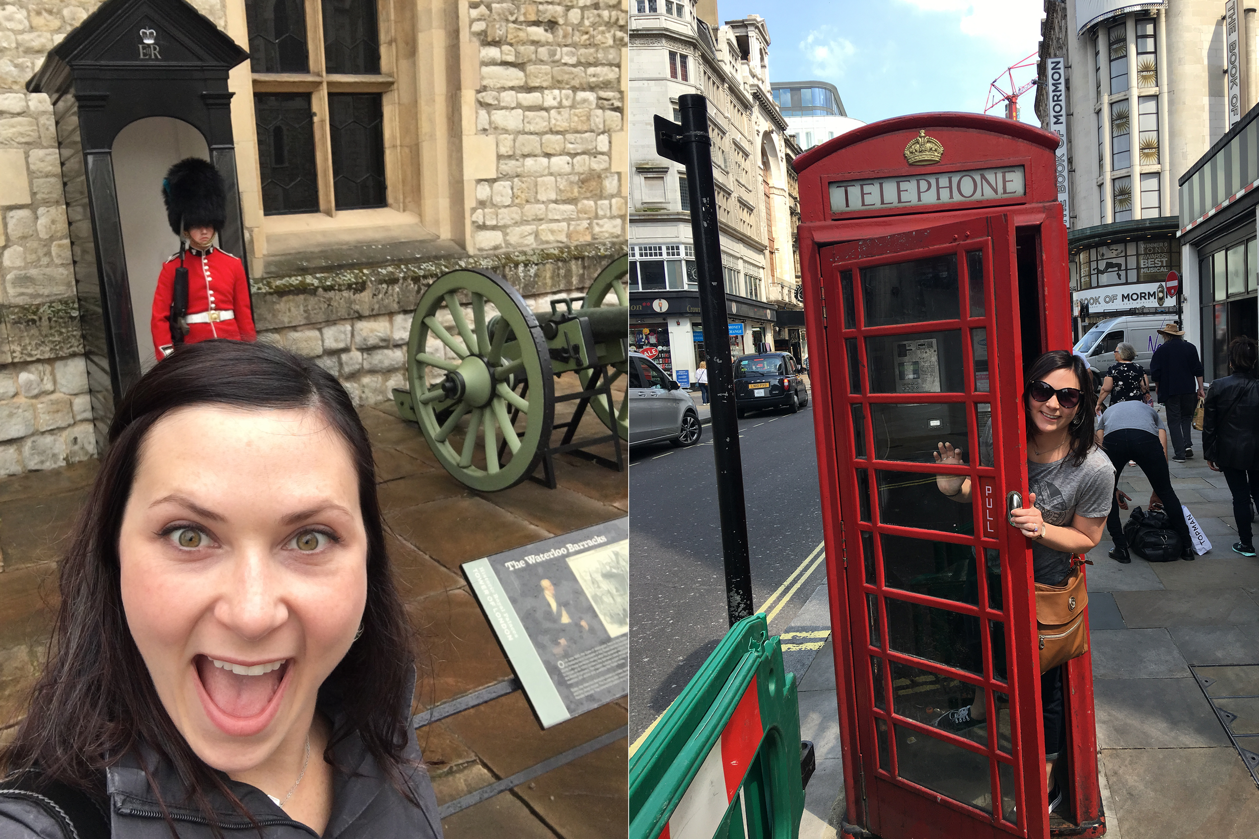Obligatory selfie and phone booth photo
